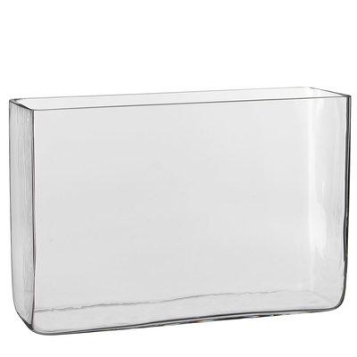 Handgefertigte Glasvase Britt - Transparent - H 20cm - Mica Decorations