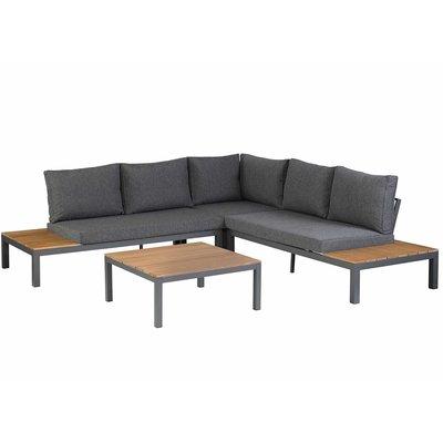 Lounge-Set 'La Vida' Eukalyptus - Anthrazit Aluminium - Inklusive Kissen - Exotan