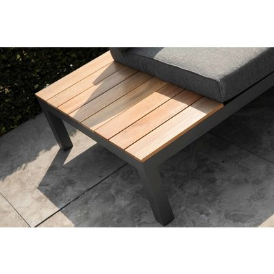 Loungeset 'La Vida' Eucalyptus - Antraciet aluminium - Inclusief kussens - Exotan