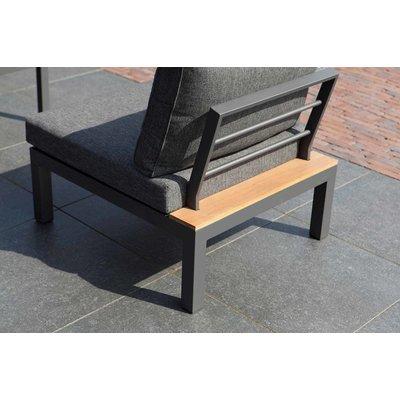 Lounge sofa 'La Vida' Eucalyptus - Antraciet aluminium - Inclusief kussens - Exotan