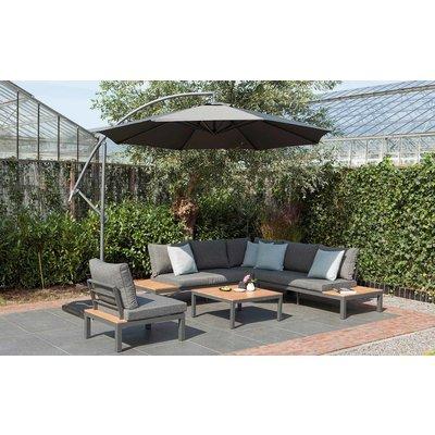 Lounge-Sofa 'La Vida' Eukalyptus - Anthrazit Aluminium - Inklusive Kissen - Exotan