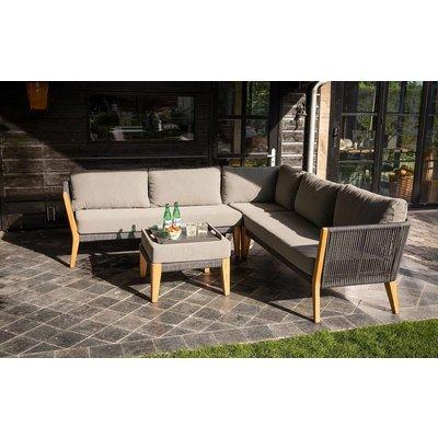 Lounge-Set 'San Remo' - Aluminium Rope und Teak - Inklusive Kissen - Exotan