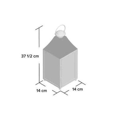 Laterne Bilbao - Schwarzes beschichtetes Metall - H 37,5cm - Greenware