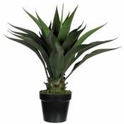 Kunstplant Agave Groen - H 60cm - Kunststof sierpot - Mica Decorations