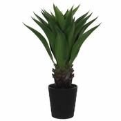 Künstliche Pflanze Agave Grün - H 80cm - Kunststoff Ziertopf - Mica Decorations