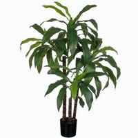 Künstliche Pflanze Dracaena Grün - H 100cm - Kunststofftopf - Mica Decorations