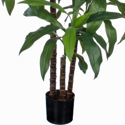 Kunstplant Dracaena Groen - H 100cm - Kunststof pot - Mica Decorations