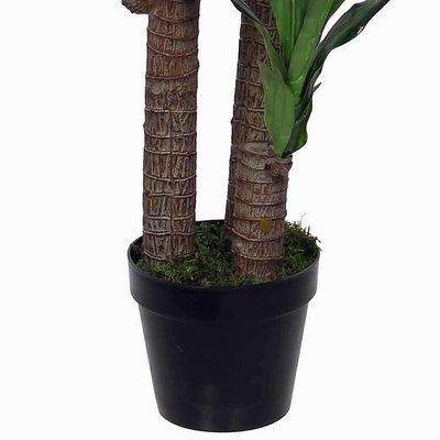 Kunstplant Dracaena Groen - H 110cm - Kunststof pot - Mica Decorations
