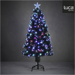 LUCA Lighting - Abbey kunstkerstboom - Fibre optic vezel met multicolor verlichting