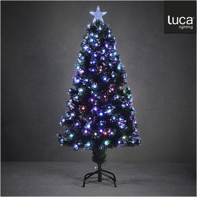 LUCA Lighting - Abbey Künstlicher Weihnachtsbaum - Glasfaser mit mehrfarbiger Beleuchtung