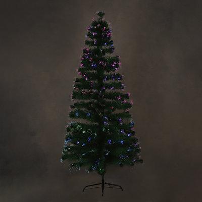 LUCA Lighting - Greenwood Künstlicher Weihnachtsbaum - Glasfaser mit mehrfarbiger Beleuchtung