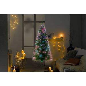 LUCA Lighting - Greenwood kunstkerstboom - Fibre optic vezel met multicolor verlichting