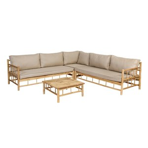 Exotan Bamboe loungeset inclusief kussens - Exotan