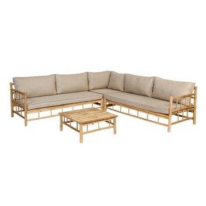 Exotan Bambus Lounge-Set inklusive Kissen - Exotan