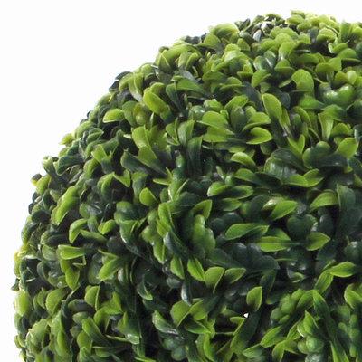 Künstliche 37cm Pflanze Buxus Kugel Teeblatt Grün - D 37cm - Für außen und innen - Mica Decorations