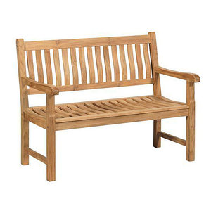 Teakholz Gartenbank Comfort - 2-Sitzer - Exotan