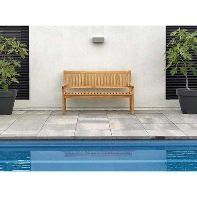Teakholz Gartenbank Comfort - 3-Sitzer - Exotan