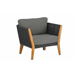 Loungesofa 'San Remo' - Aluminium, Rope en Teak - Inclusief kussens - Exotan