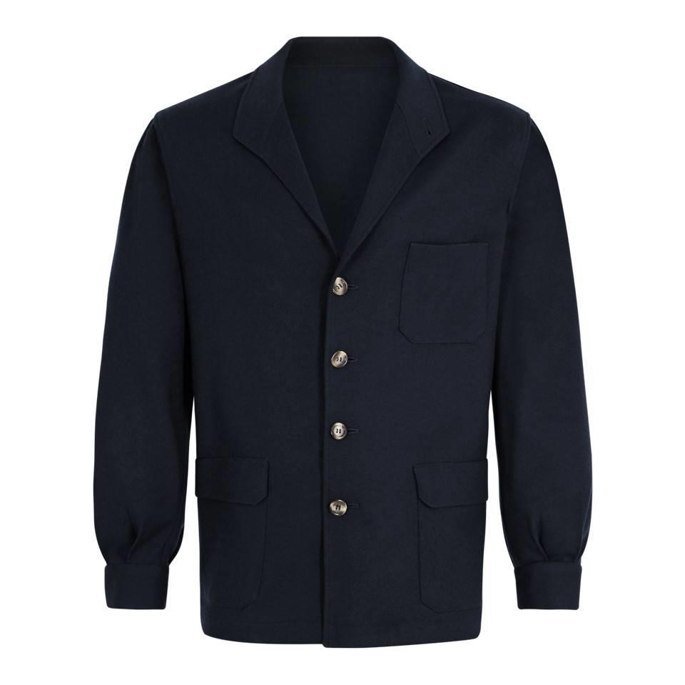 Wool Teba Jacket - Midnight Blue
