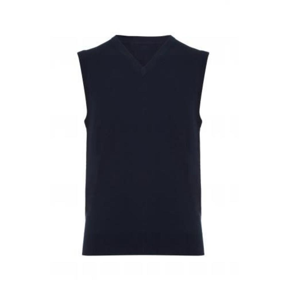Cashmere Sleeveless V-Neck - Navy