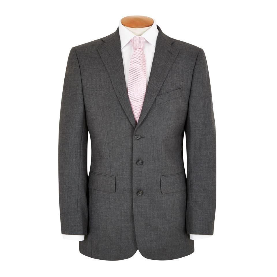 Single Breasted 3 Button City Suit – Charcoal