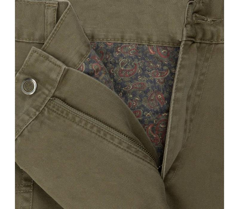 Brushed Cotton Jeans - Camel