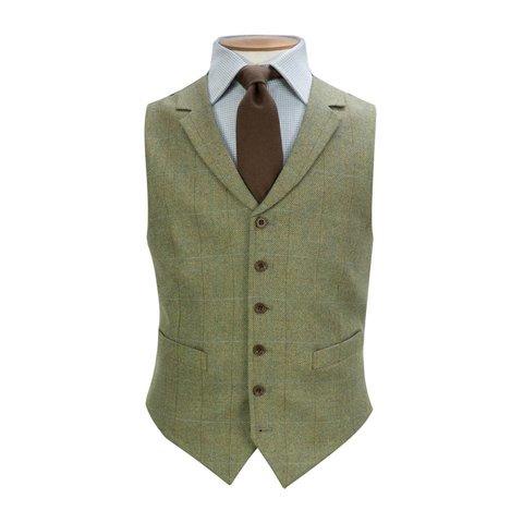 Ayr Single Breasted Tweed Waistcoat