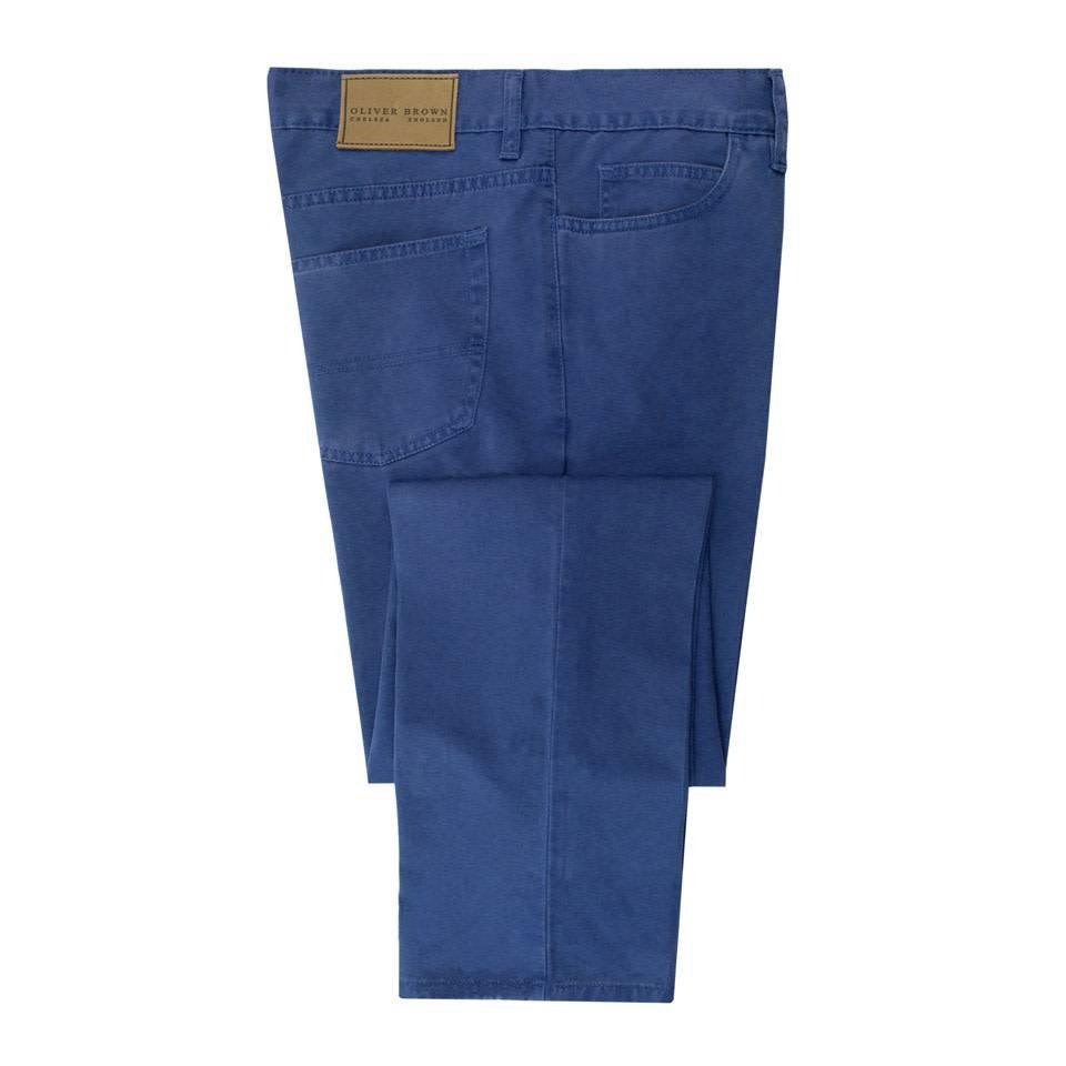 Brushed Cotton Jeans - Yale Blue