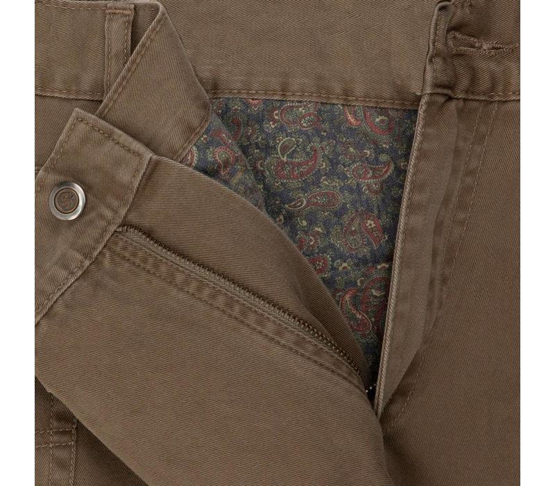 Brushed Cotton Jeans - Mink