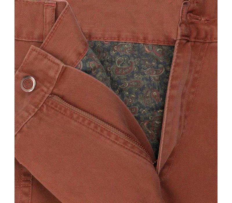 Brushed Cotton Jeans - Mandarin