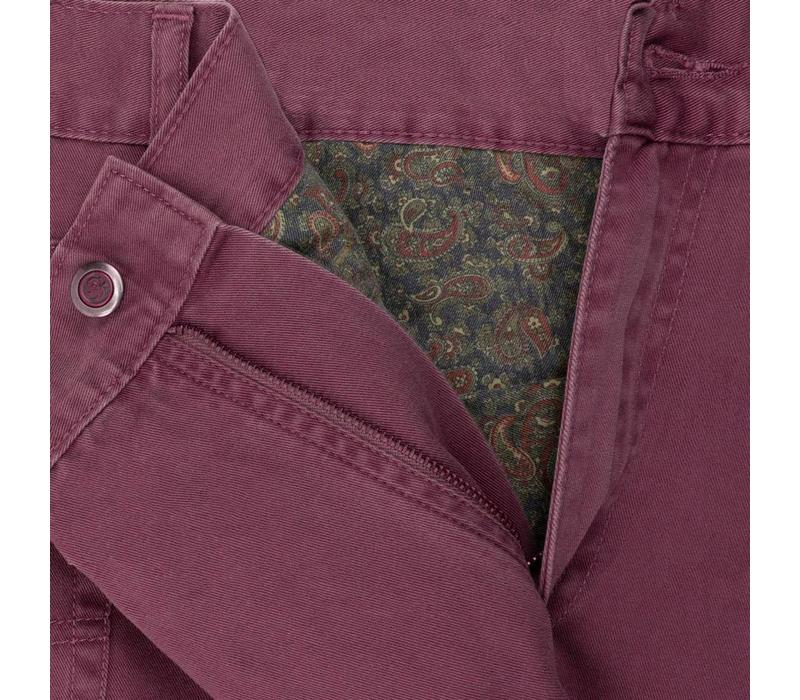 Brushed Cotton Jeans - Mulberry