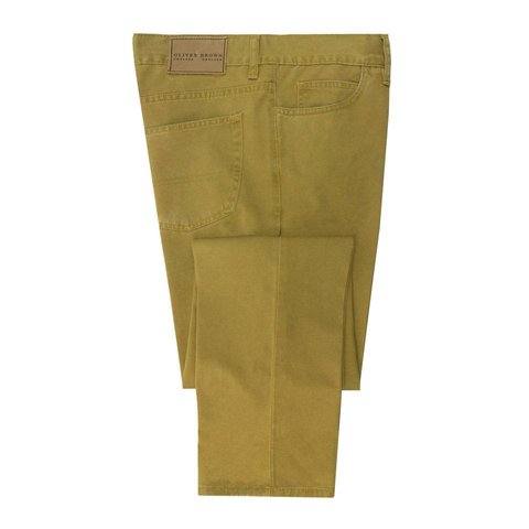 Brushed Cotton Jeans - Sahara