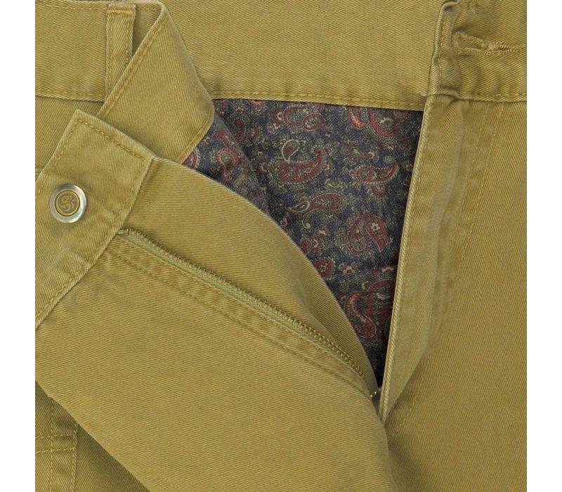 Brushed Cotton Jeans - Sahara