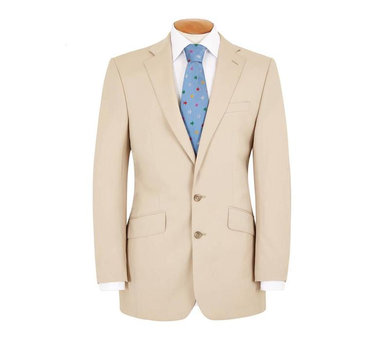 Single Breasted Gabardine Suit - Beige