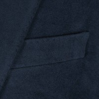 Single Breasted Moleskin Jacket - Navy