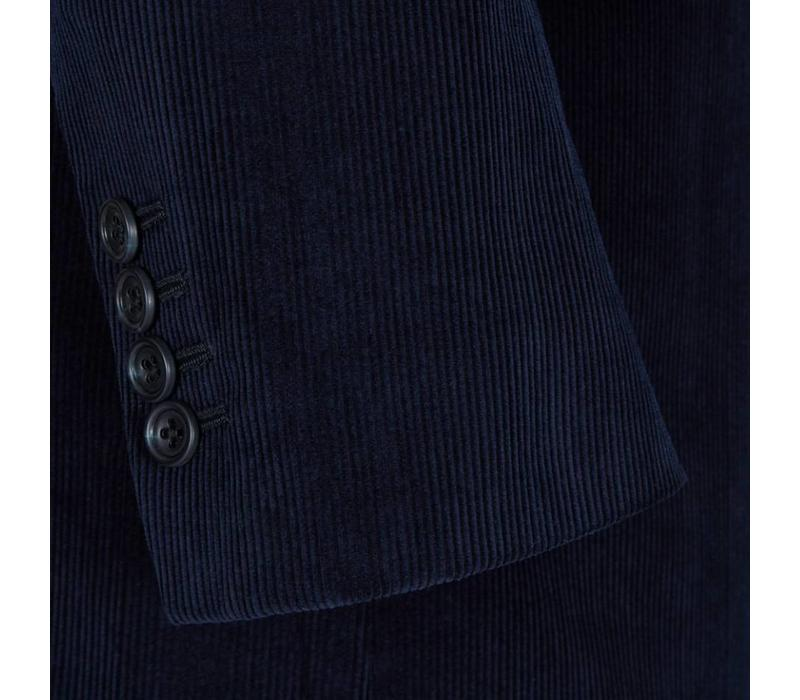 Single Breasted Needlecord Jacket - Navy