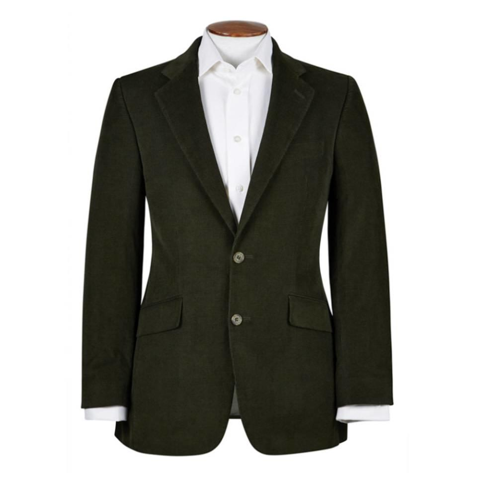 Eaton  Jacket - Olive Needlecord