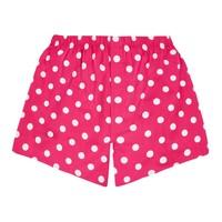 Cotton Boxer Shorts, Polka Dot - Bright Pink