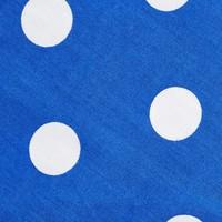 Cotton Boxer Shorts, Polka Dot - Royal Blue
