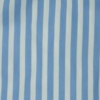 Cotton Boxer Shorts, Stripe - Pale Blue