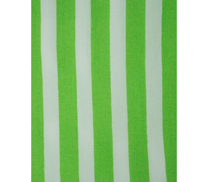 Cotton Boxer Shorts, Stripe - Lime