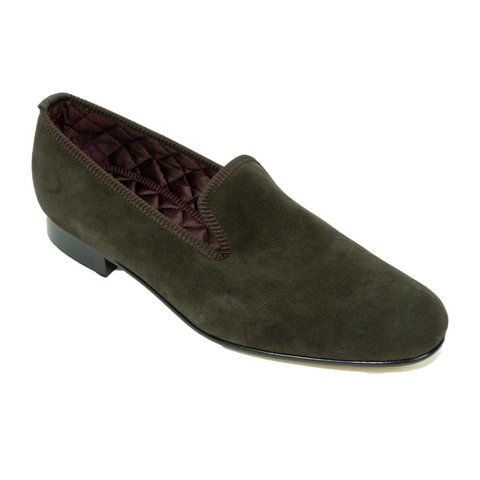 Suede Slippers - Dark Brown