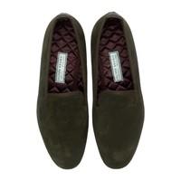 Suede Slippers - Dark Brown