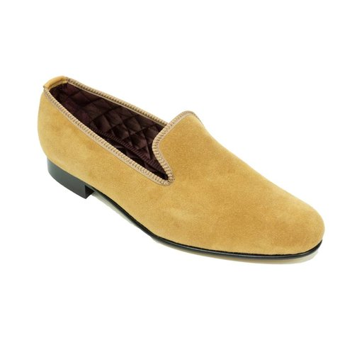 Slippers, Suede - Biscuit