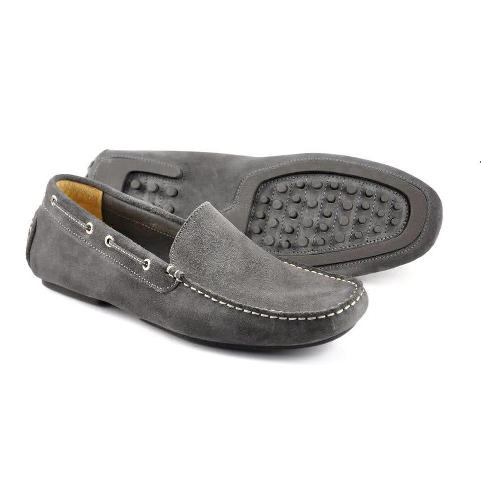 Suede Driving Shoes - Grey