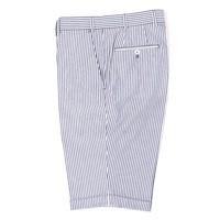 Cotton Shorts - Blue and White Stripe
