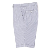 Cotton Shorts - Pale Blue and White Stripe