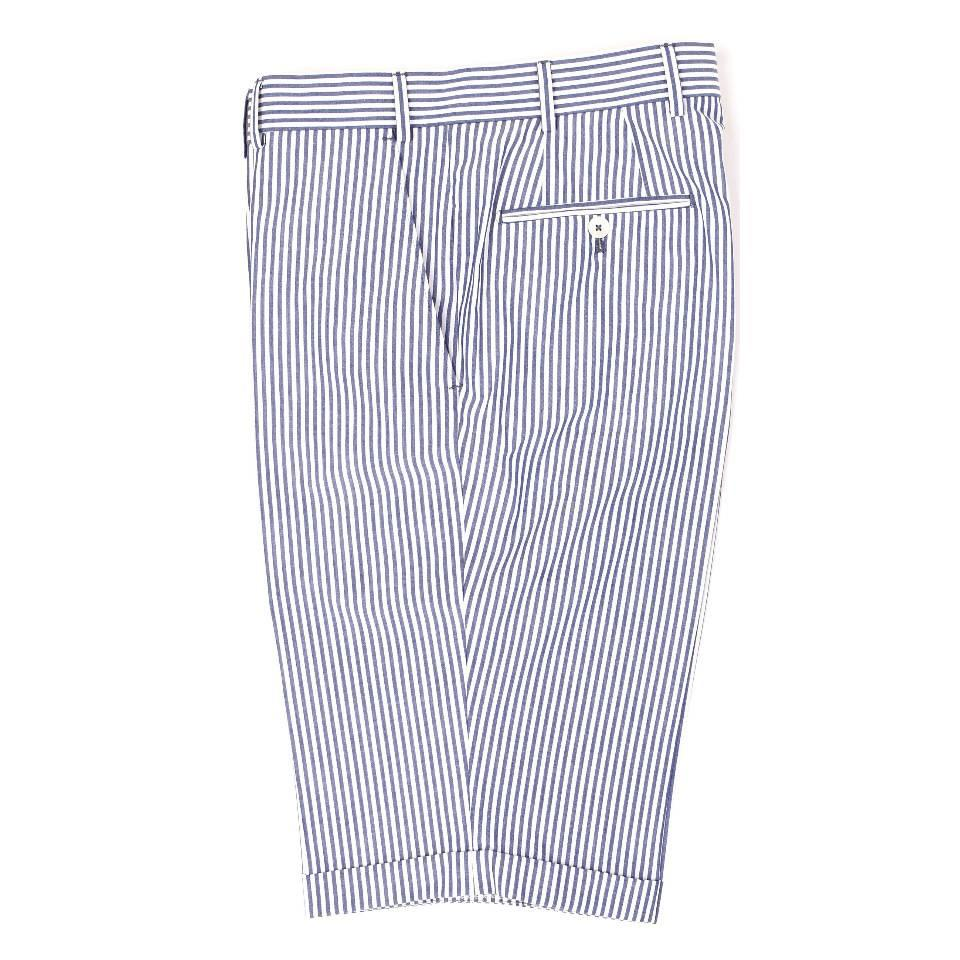 Cotton Shorts - Pale Blue and White Stripe