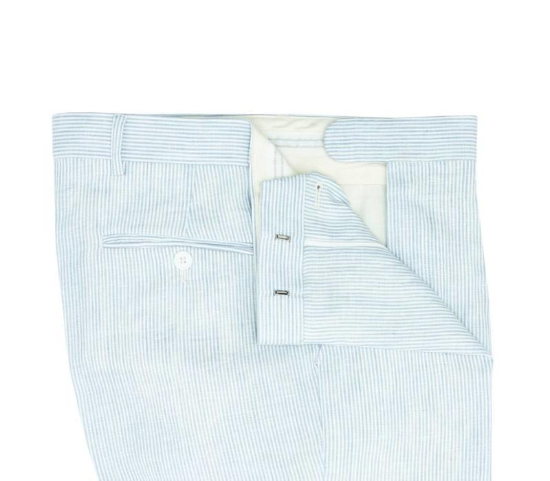 Striped Linen Shorts 2018 - Pale Blue