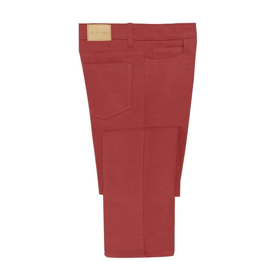 Moleskin Jeans - Cranberry